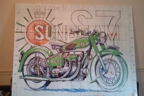 Sunbeam Motorcycle Tattoo