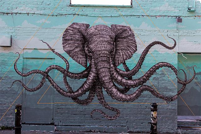 Elephant Octopus Design