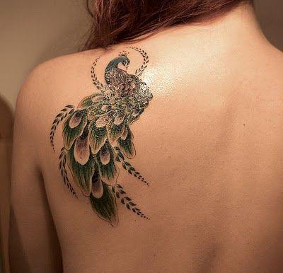 Symbol of royalty tattoo. Peackock tatoo ideas