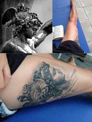 Perseus Tattoo Ideas by Italian Sculptor