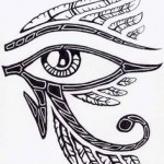 Beautiful Eye of Ra Tattoos