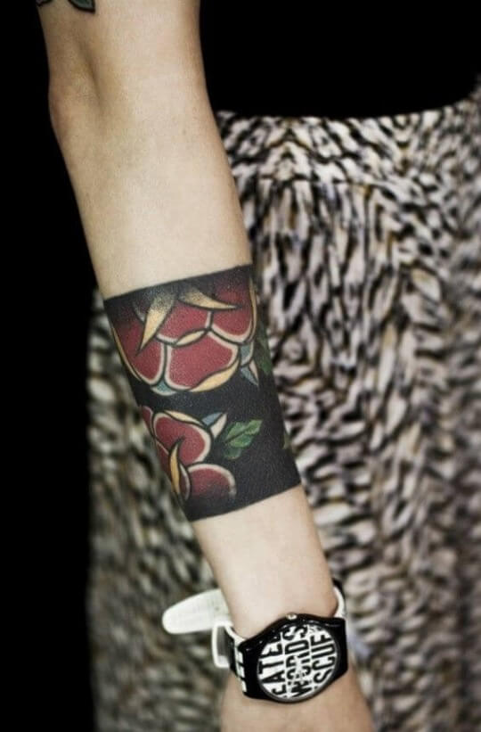 bracelet-tattoo-floral-wide