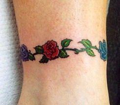 bracelet-tattoo-roses