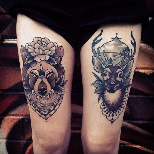 animal-thigh-tattoo