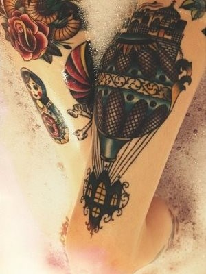 Trendy Upper Thigh Tattoos for Women
