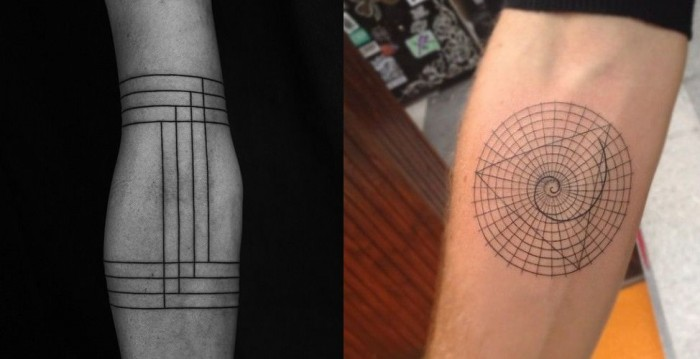 Minimalist and Abstract Tattoos tattooideasart.com