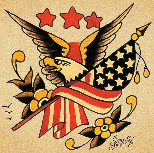 Eagel tattoo Sailor Jerry Rockabilly