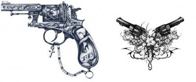 Pattern for gun tattoo