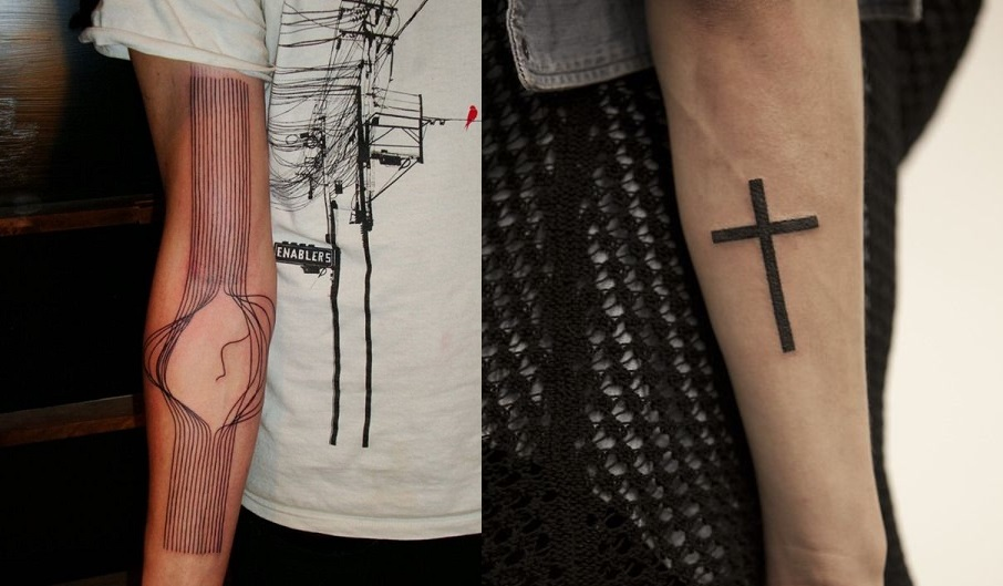 lines-tattoo-forearm-cross