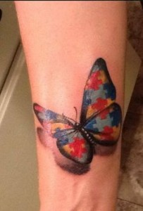 autism baterfly tattoo puzzle